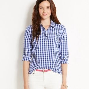 Vineyard vines gingham button down top small
